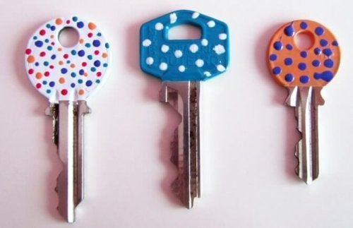 Three polka dot designs.
