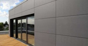 Durock makes fiber cement siding for buildings.