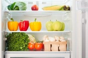 An organized fridge.
