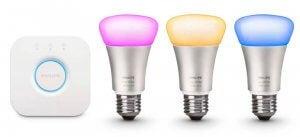 Philips Hue light bulbs.