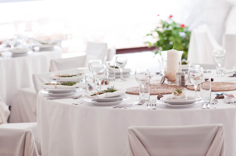 restaurant tablecloth