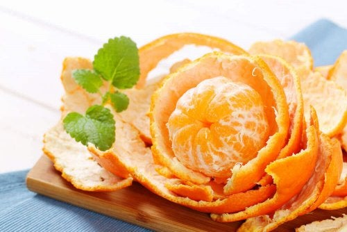 Orange peel as an air freshener.