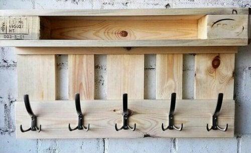 Another wooden coat rack.