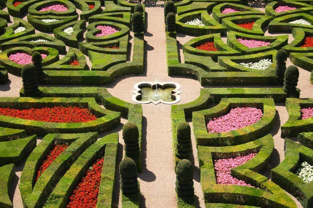 French garden symmetry