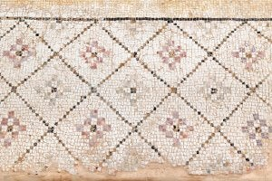 Roman-style mosaics.