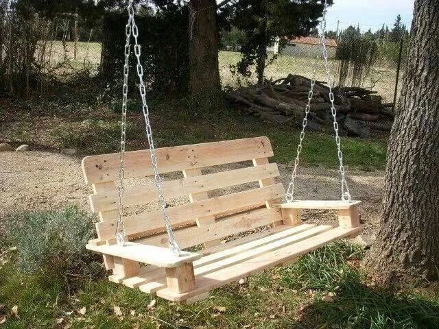backyard swings pallet