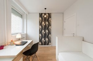 Simple bedroom decor.