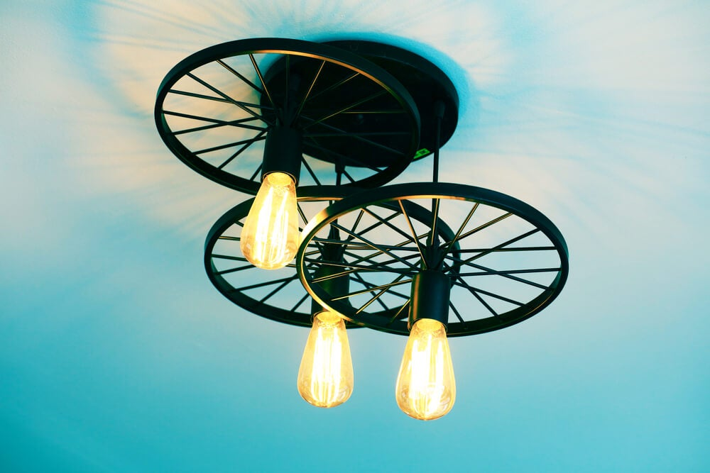 bicycle wheels light fixture