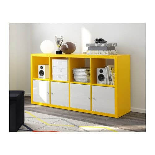 colorful shelves yellow
