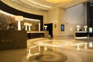 Marble interiors.