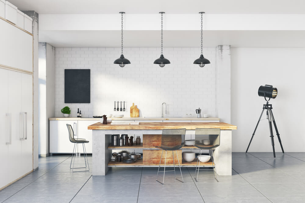 industrial kitchen white