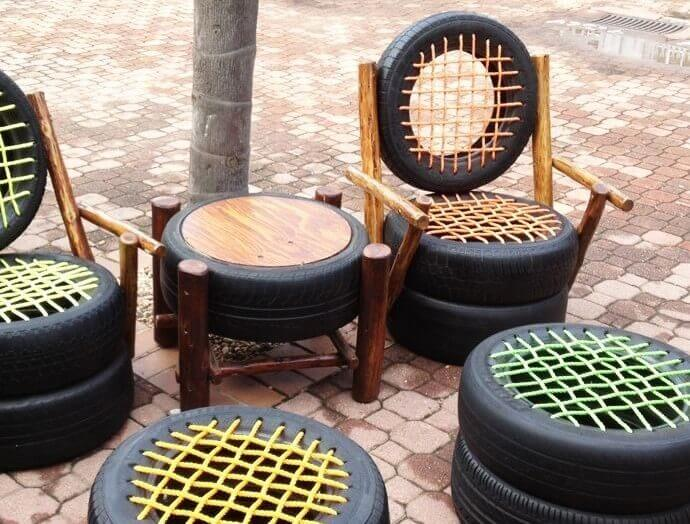 tire chairs backrest