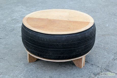 tire chairs stool