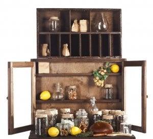 Rustic pantry.