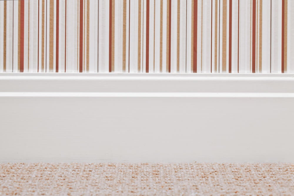 baseboards lacquered