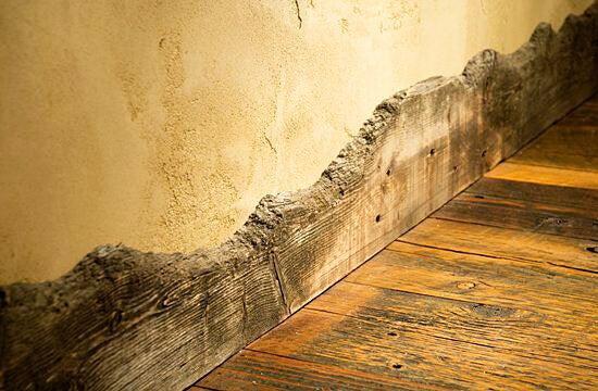 baseboard rustic