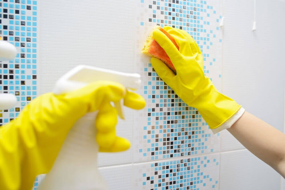 bathrooms clean steps