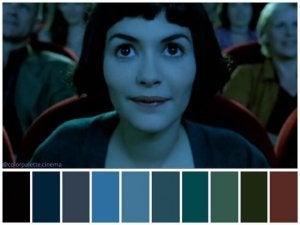 Amélie in the cinema.