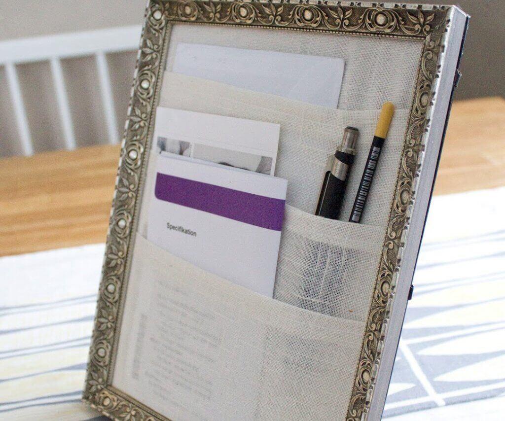 decorating frames desk