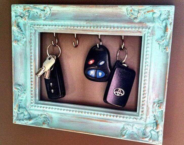 decorating frames keyholder