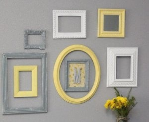 Picture frames.