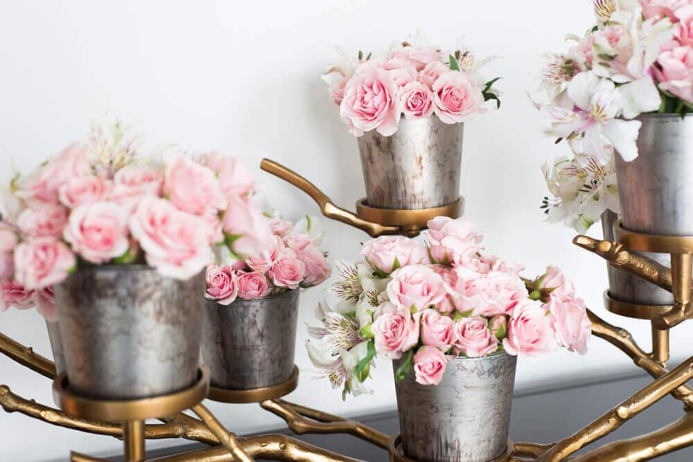 flower decor parties basket