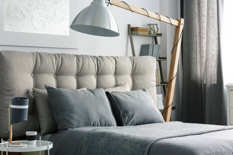 Bedrooms with a gray theme give a sense of security