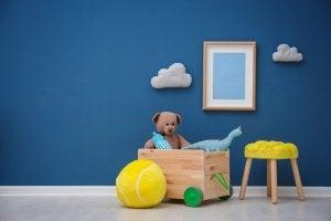 A children's toy box.