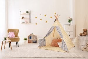 A children's teepee.