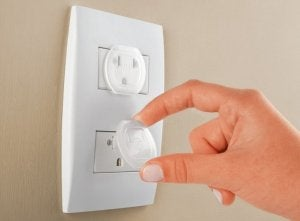 Decorating your home with kids in mind: wall socket covers.