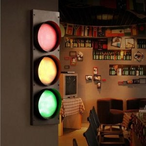 Traffic light decor.