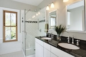 Granite bathrooms.