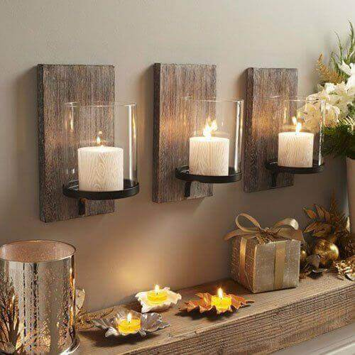 candle holders wall