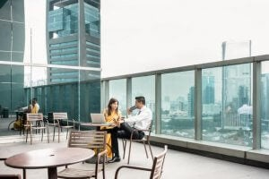 Designing coworking offices: the terrace.