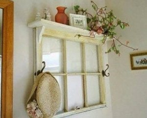 DIY window coat stand.