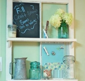 How to repurpose an old door: organizers.