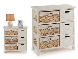 Basket drawers.