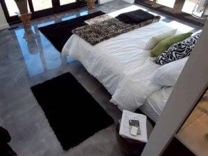 Epoxy flooring.