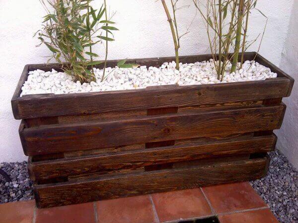 flowerpot natural wood