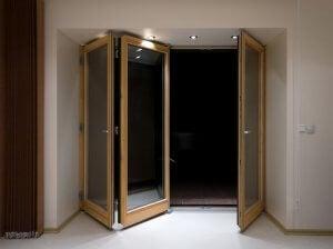 Folding doors.