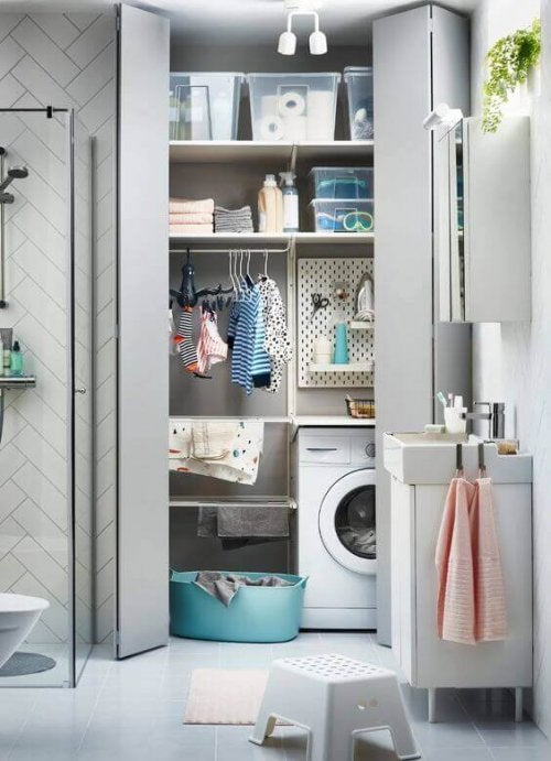 Merge Your Laundry Room into Your Bathroom