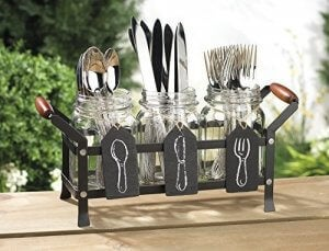 Cutlery holders.