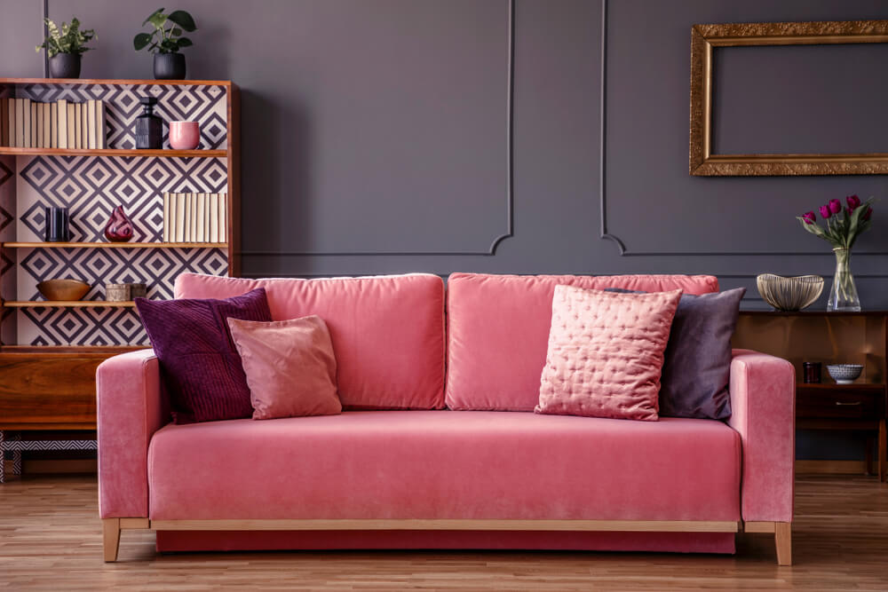 pink decor couch