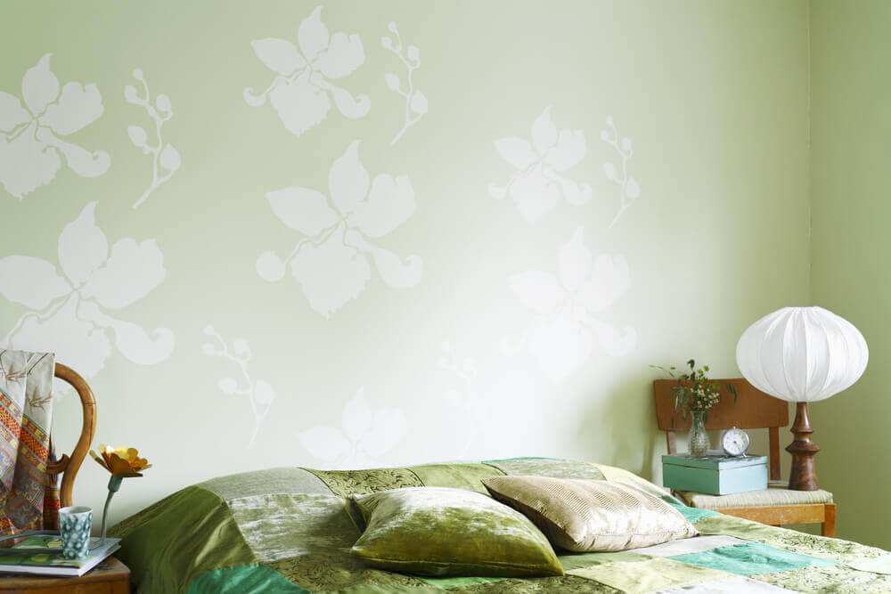 pistachio green bedroom