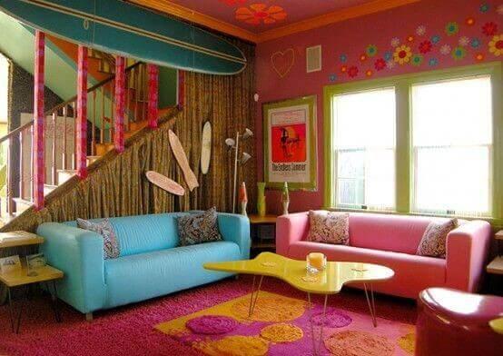 sixties decor hippie