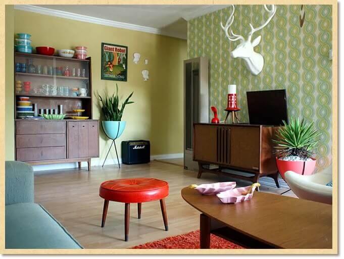 sixties decor color