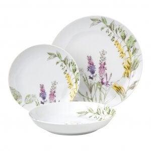 Floral dinnerware.