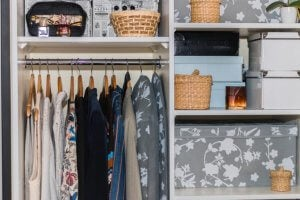 The Marie Kondo method for an organized closet.