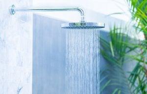 Waterfall shower heads.