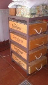 Wine crates.